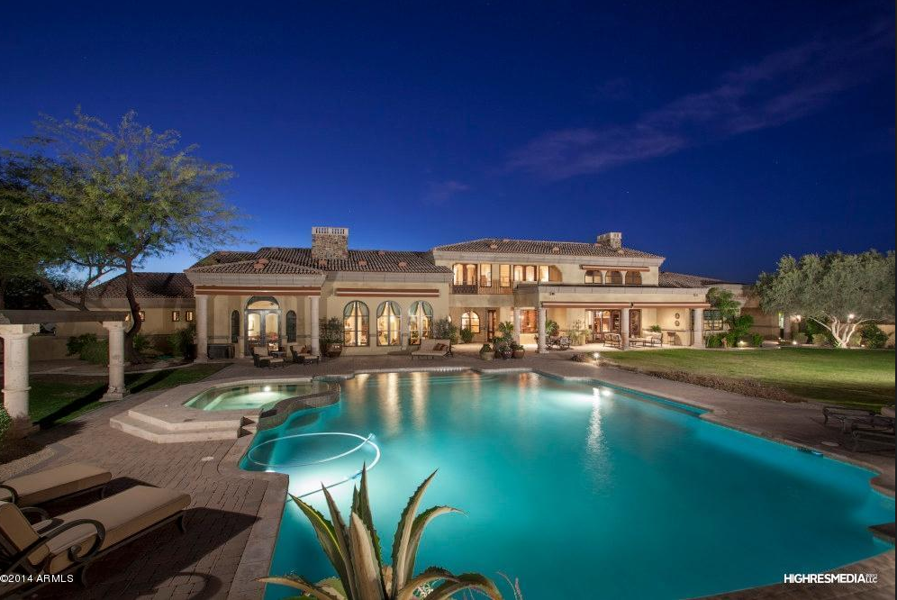 5 1 Million Santa Barbara Style Estate In Scottsdale Az Homes Of The Rich The 1 Real
