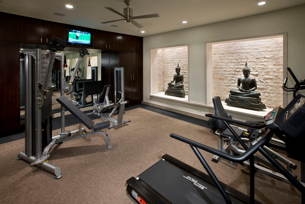 A look at some home gyms from houzz homes of the rich