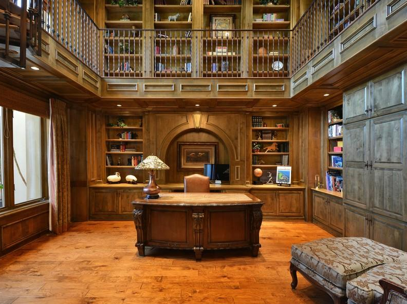 Two Austin Tx Mansions With 2 Story Libraries Homes Of