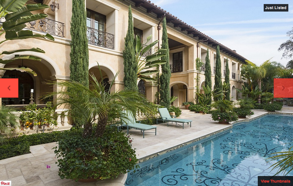 55 million newly listed mediterranean mega mansion in for Mediterranean homes for sale