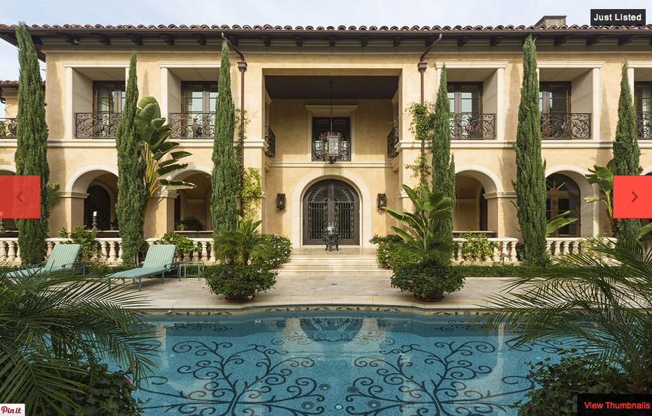 $55 Million Newly Listed Mediterranean Mega Mansion In Beverly Hills, CA