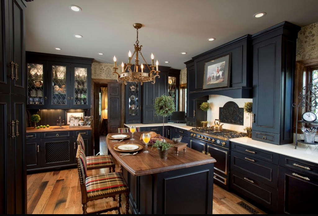 a look at some gourmet kitchens with la cornue ranges homes of the rich the 1 real estate blog. Black Bedroom Furniture Sets. Home Design Ideas