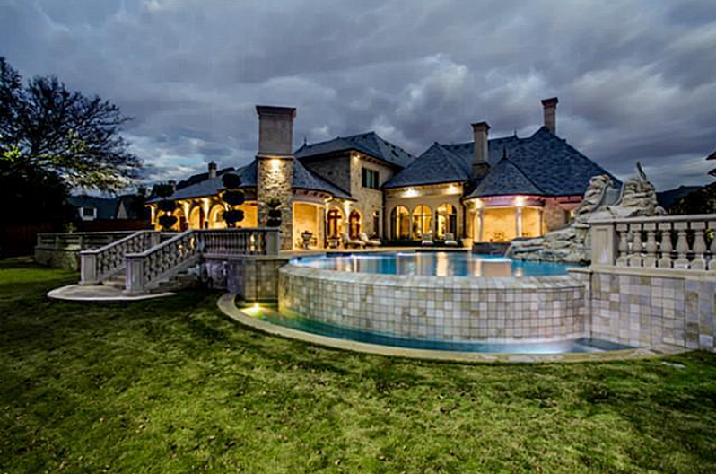 $5.95 Million French Inspired Stone Mansion In Frisco, TX