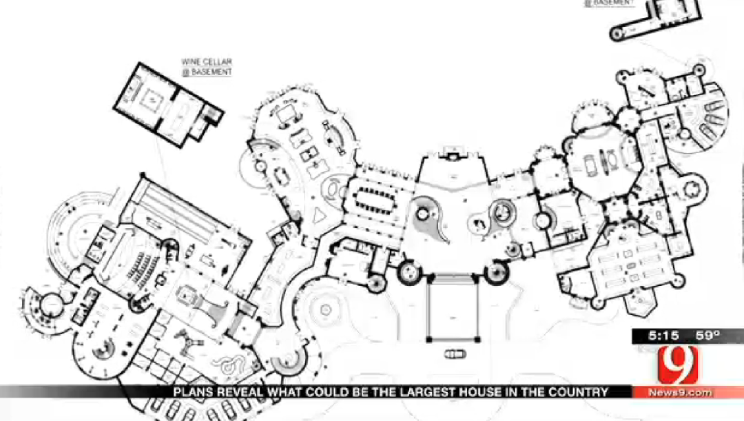 92,650 Square Foot Proposed Super Mansion In Edmond, OK ... on largest hotel floor plan, largest triple wide floor plans, largest manufactured home floor plan, largest house floor plan,
