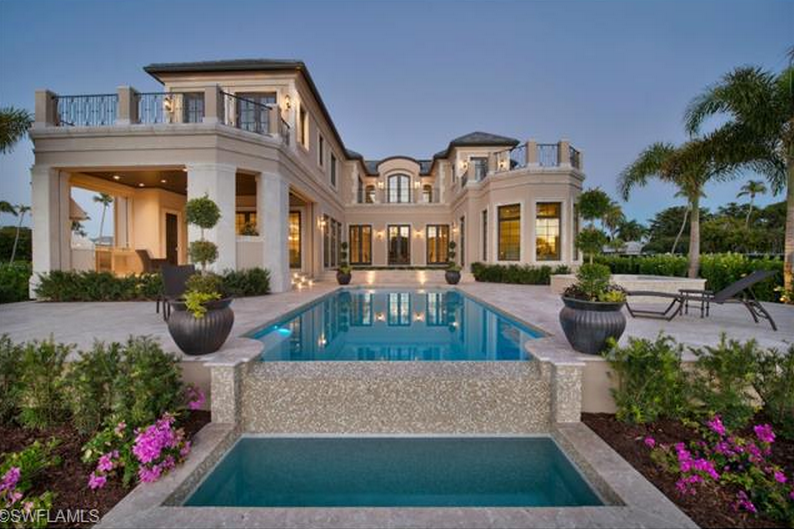 9 95 Million Newly Built Waterfront Mansion In Naples Fl