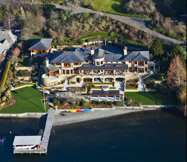 $32.8 Million Waterfront Mansion In Bellevue, WA