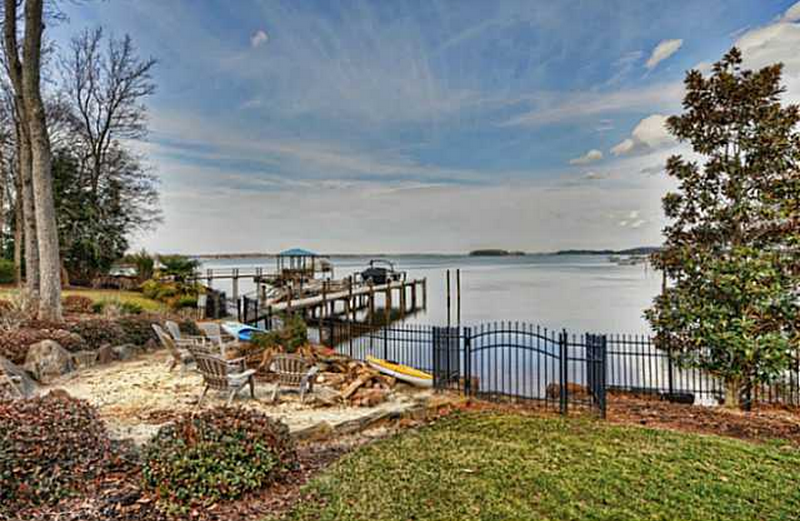 $4.95 Million Waterfront Mediterranean Mansion In Cornelius, NC