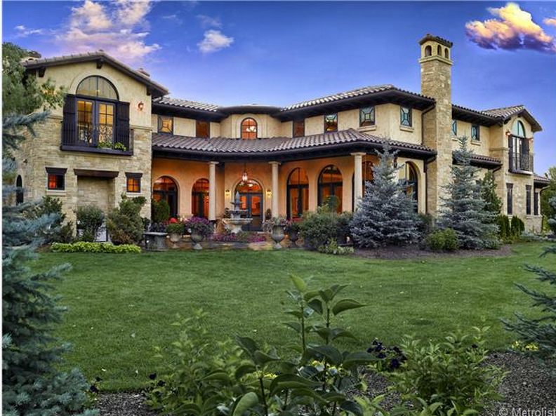 $2.895 Million Mediterranean Mansion In Cherry Hills Village, CO