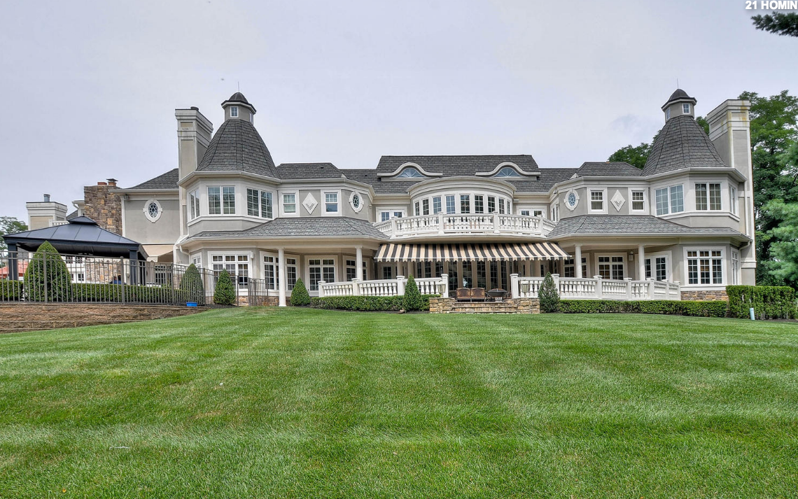 18,000 Square Foot French Inspired Mansion In Colts Neck, NJ