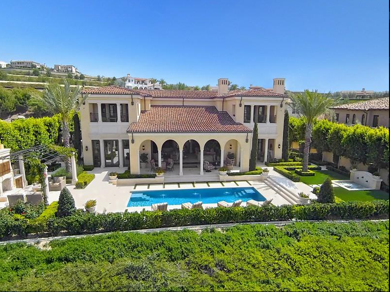 21 8 Million Newly Built Mediterranean Mansion In Newport Coast Ca Homes Of The Rich