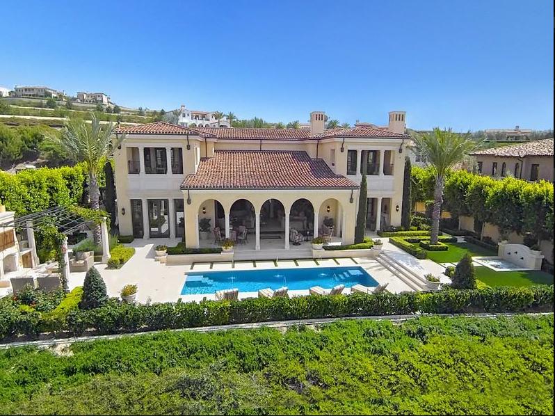$21.8 Million Newly Built Mediterranean Mansion In Newport Coast, CA