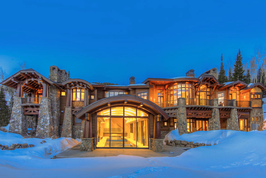 $15.89 Million Newly Built Mountaintop Contemporary Mansion In Park City, UT