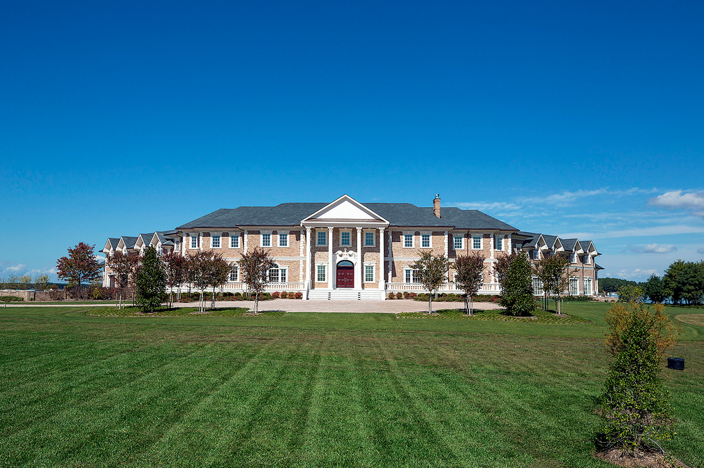 Newly Built Waterfront Brick Mega Mansion In Oxford Md
