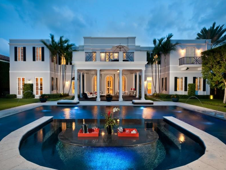 10 9 Million Regency Style Mansion In Palm Beach Fl Homes Of The Rich