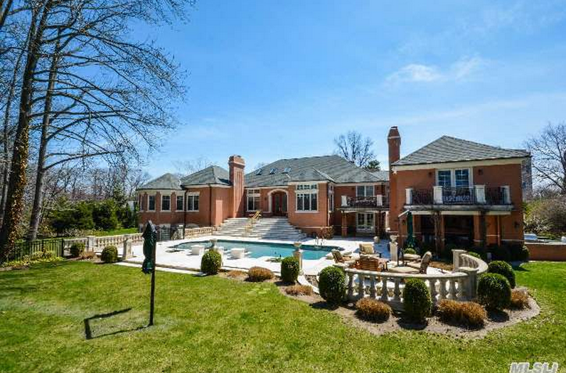 10,000 Square Foot Lakefront Brick Colonial In Great Neck, NY