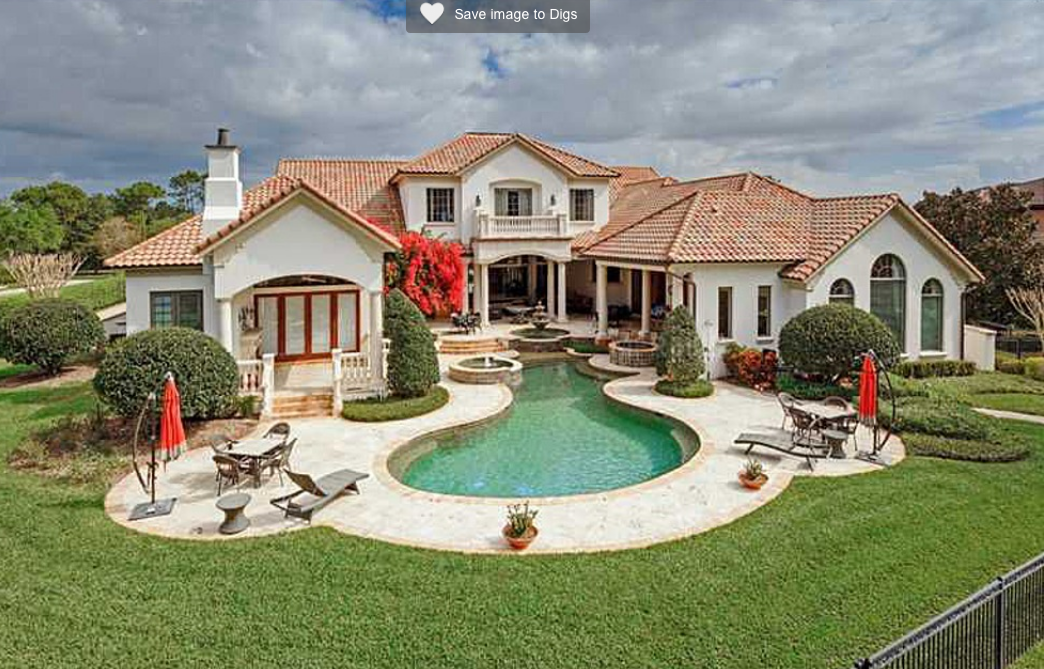 $5.35 Million Lakefront Mediterranean Mansion In Orlando, FL
