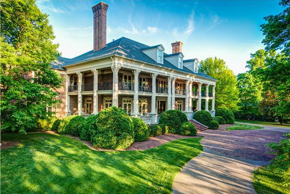 16 3 million newly listed plantation style mansion in Nashville tn home builders