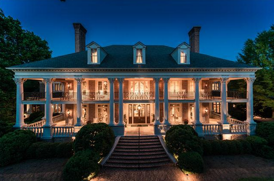 16 3 million newly listed plantation style mansion in for Nashville tn house plans