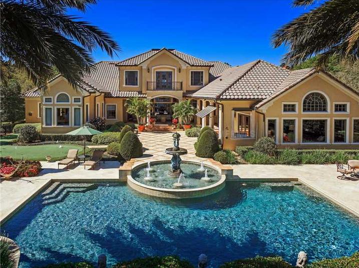 $5.25 Million Stunning Lakefront Mansion In Windermere, FL