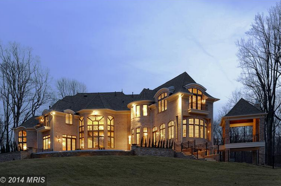 14,500 Square Foot Newly Built French Style Mansion In Great Falls, VA