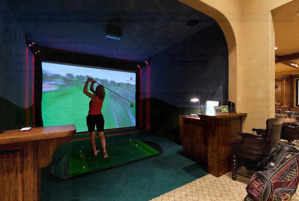 best home golf simulator. $14 Million 17,000 Square Foot Golf Course Mansion In The Woodlands, TX | Homes Of Rich Best Home Simulator
