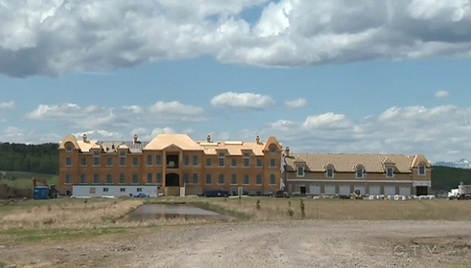 French Style Mega Mansion Under Construction In Alberta