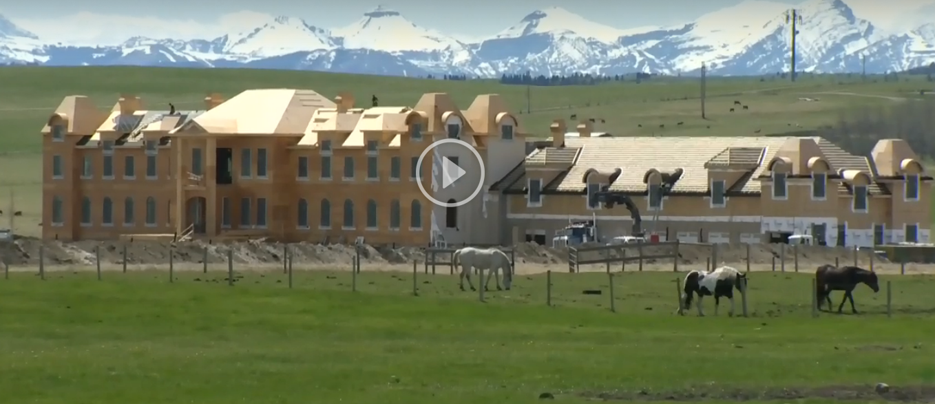 French Style Mega Mansion Under Construction In Alberta, Canada