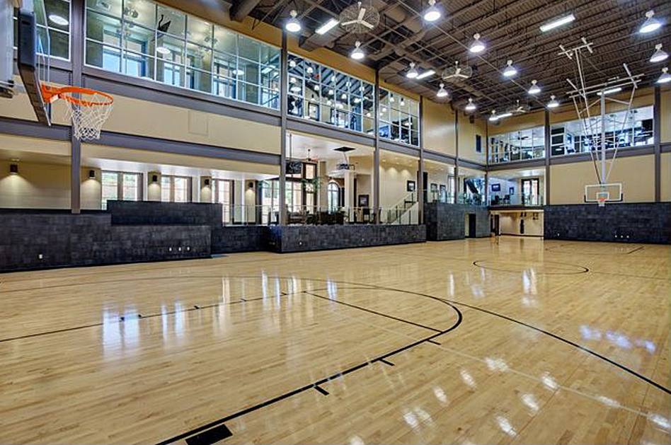 12 million 27 000 square foot estate in san antonio tx for How many square feet is a basketball court