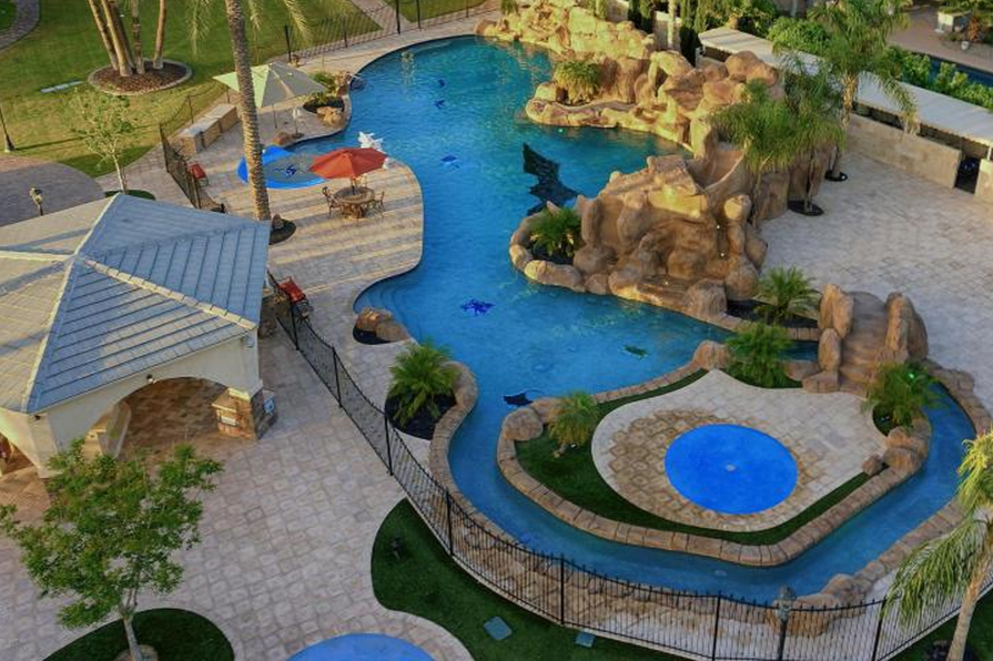 Million entertainer s paradise in tempe az homes - How to build a swimming pool waterfall ...