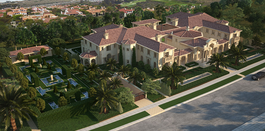 55 000 square foot mega mansion being built in newport for Most expensive house in newport beach