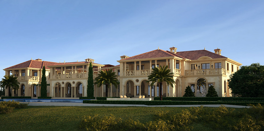 55 000 square foot mega mansion being built in newport for Rich homes in california