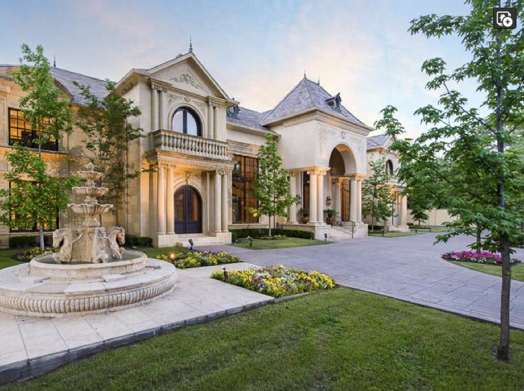 Million french country mansion in dallas tx homes for Mansions in dallas tx
