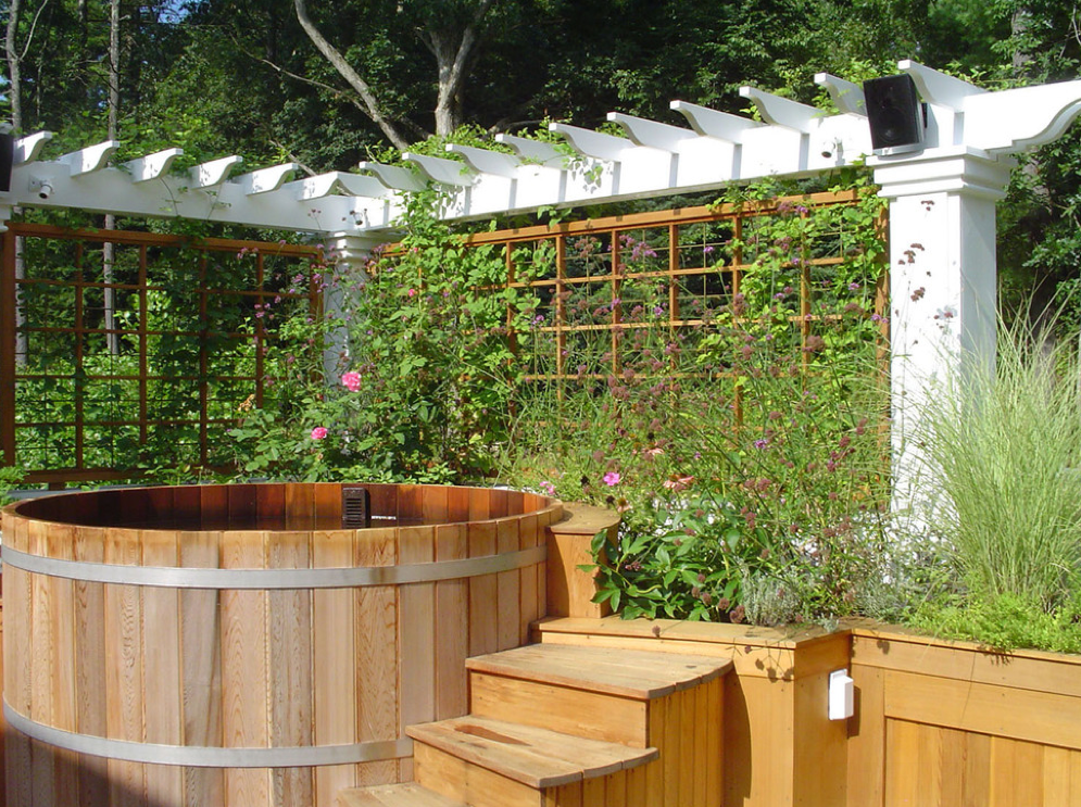 A Look At Some Outdoor Hot Tubs