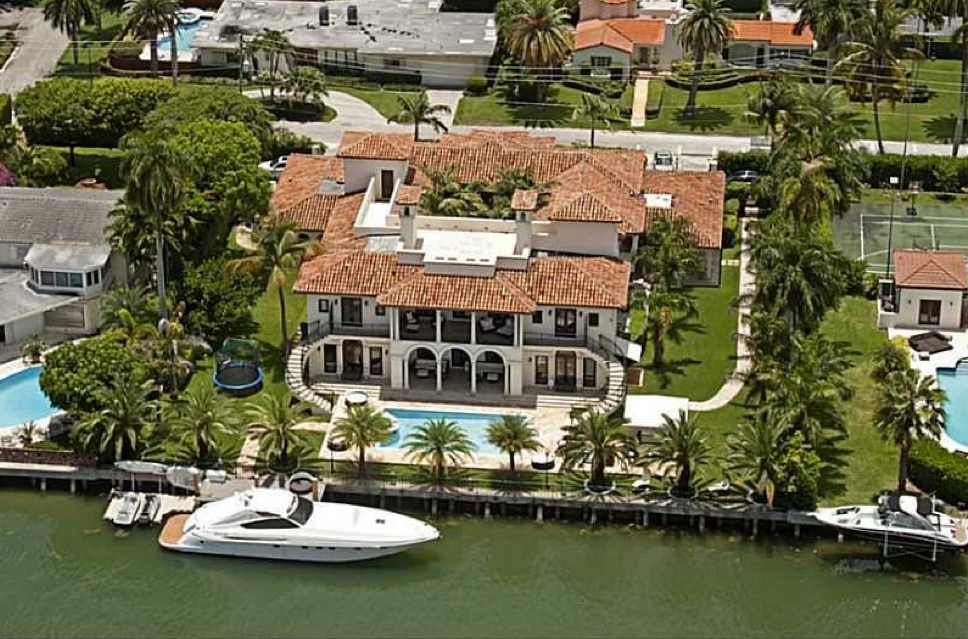 $19 Million Waterfront Mediterranean Mansion In Miami Beach, FL