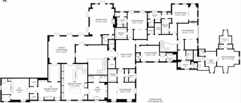 28 8 million newly built 33 000 square foot mega mansion for Toronto house plans