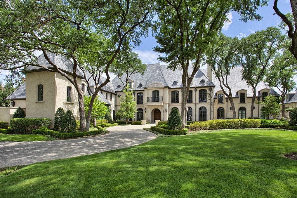 12 000 square foot newly listed french style mansion in for The house dallas for sale
