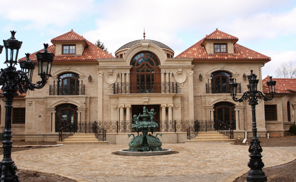 15 million 20 000 square foot mediterranean mansion in for Building a house in nj