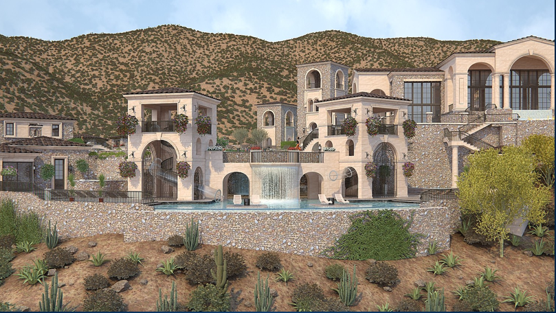100 000 square foot proposed super estate in scottsdale for House designs under 200 000