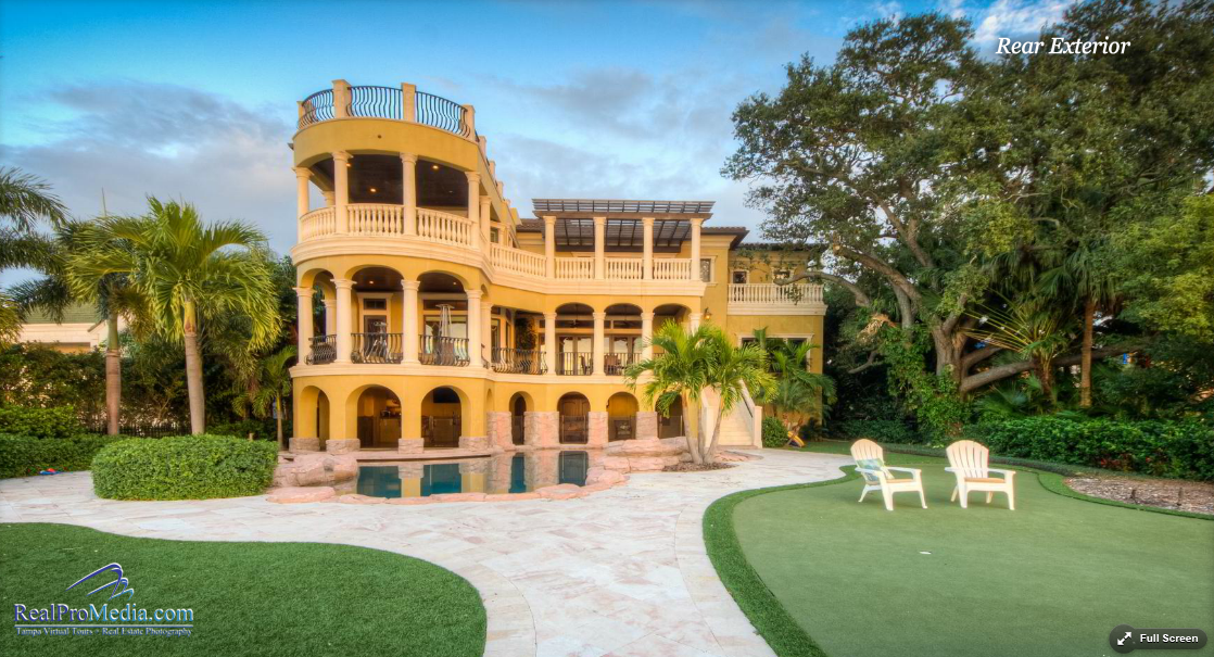 $6 Million Mediterranean Waterfront Mansion In Tampa, FL