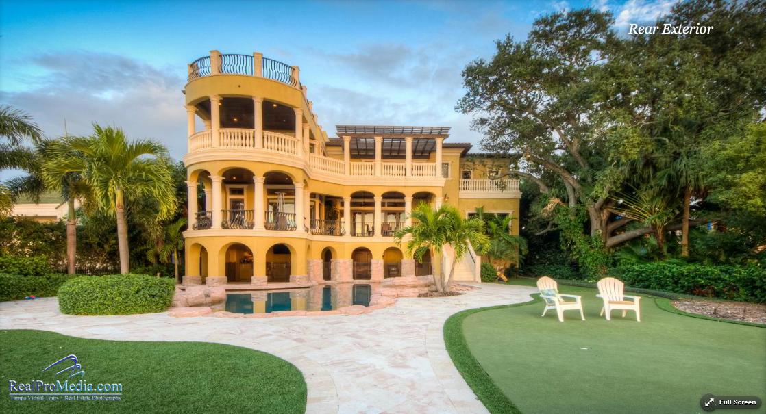 6 Million Mediterranean Waterfront Mansion In Tampa FL