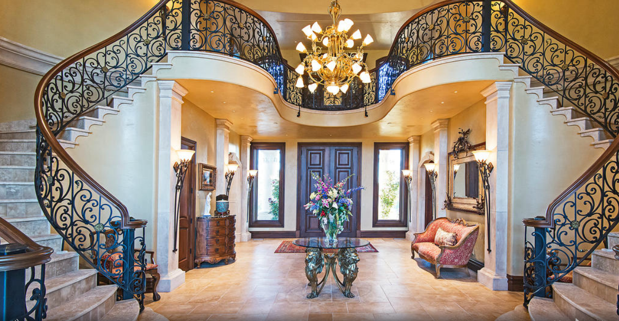 Foyer Stairs Utah : Chateau margot a million square foot mansion