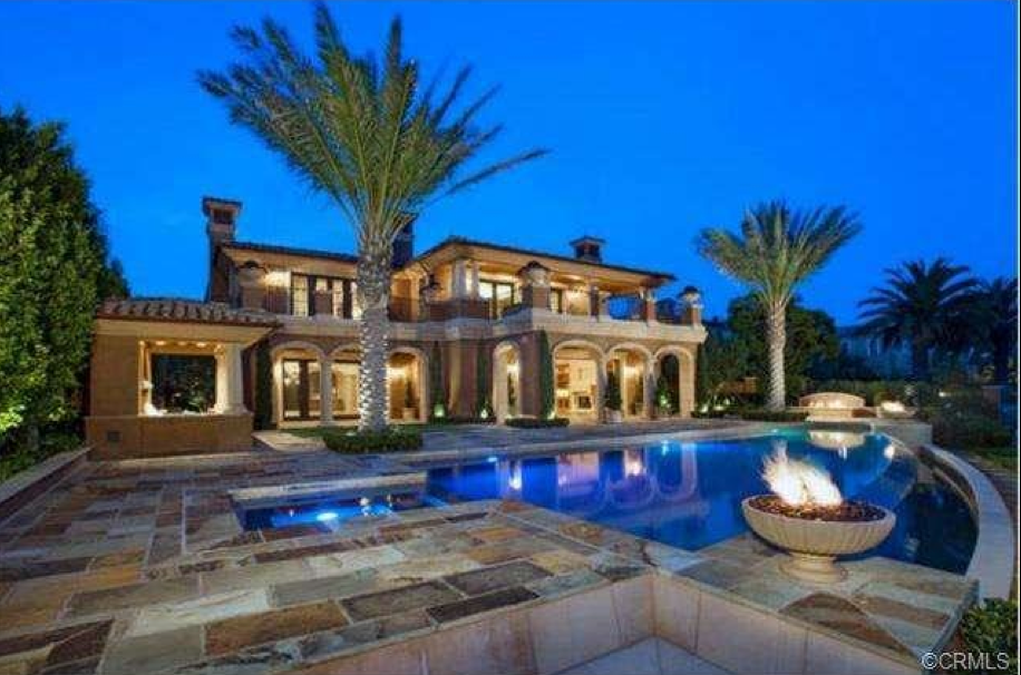 22 8 Million Newly Built Mediterranean Mansion In Newport Coast Ca Homes Of The Rich