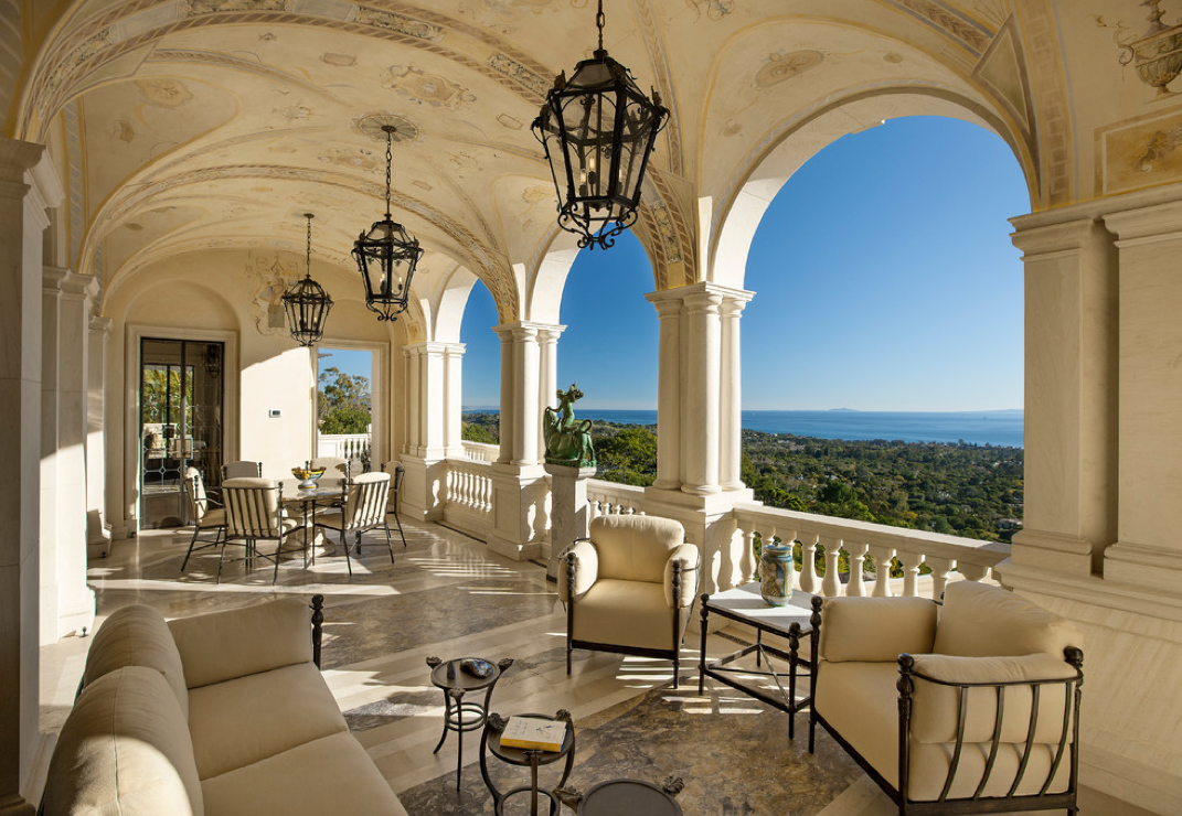Exquisite palladian villa in montecito ca homes of the rich for Palladian home designs