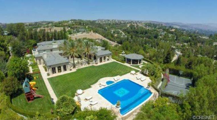 $15.9 Million Newly Listed Mediterranean Mansion In Hidden Hills, CA