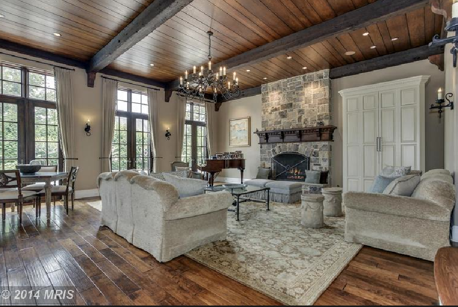 Million 12 000 square foot stone mansion in mclean for Granite 25 per square foot