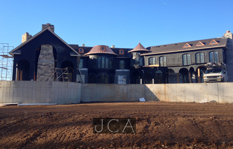 French Inspired Mega Mansion Under Construction In Bernards Township, NJ