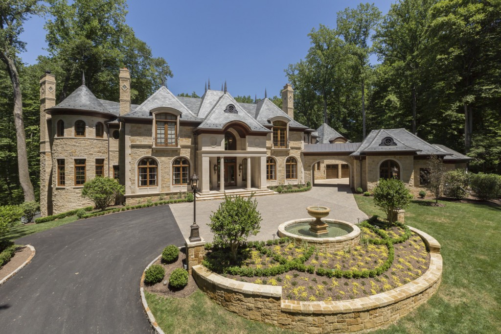 12 9 million 15 000 square foot newly built french for Builders in va