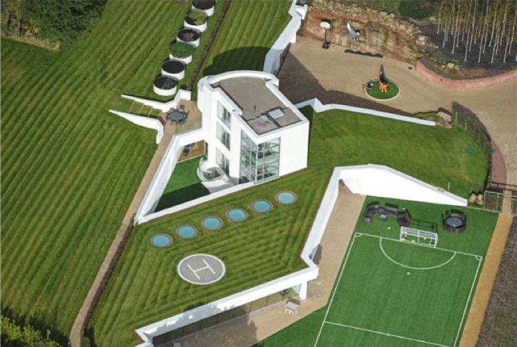 Mansion with indoor soccer field  Steppingstone – A Unique 13,000 Square Foot Modern Mansion In ...