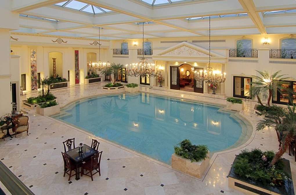 Mansion With Swimming Pool $18.9 million neoclassical mansion in houston, tx with jawdropping