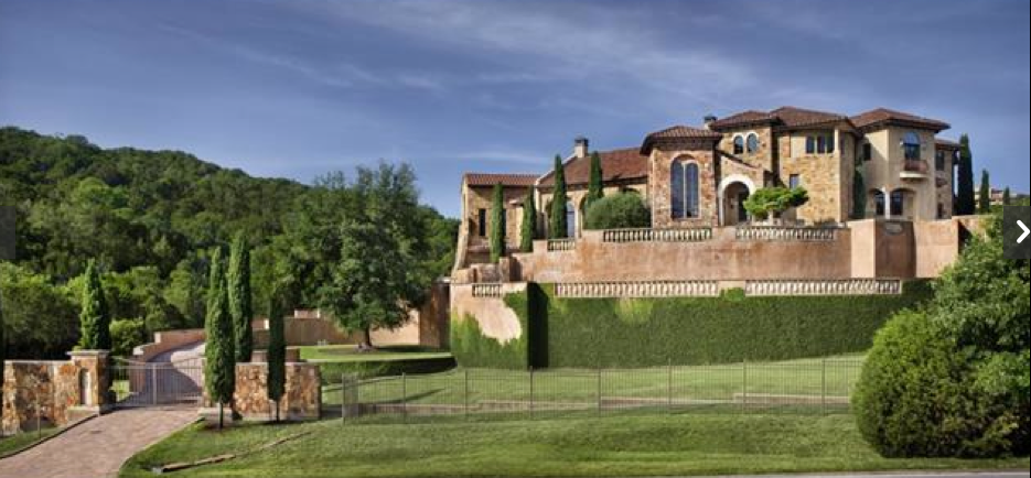 6 9 million 14 000 square foot hilltop mediterranean for The austin house